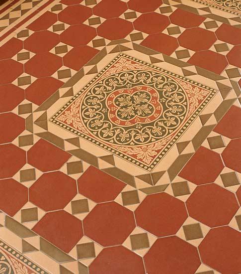 Geometric floor tiles. Photo: Alise O'Brien.
