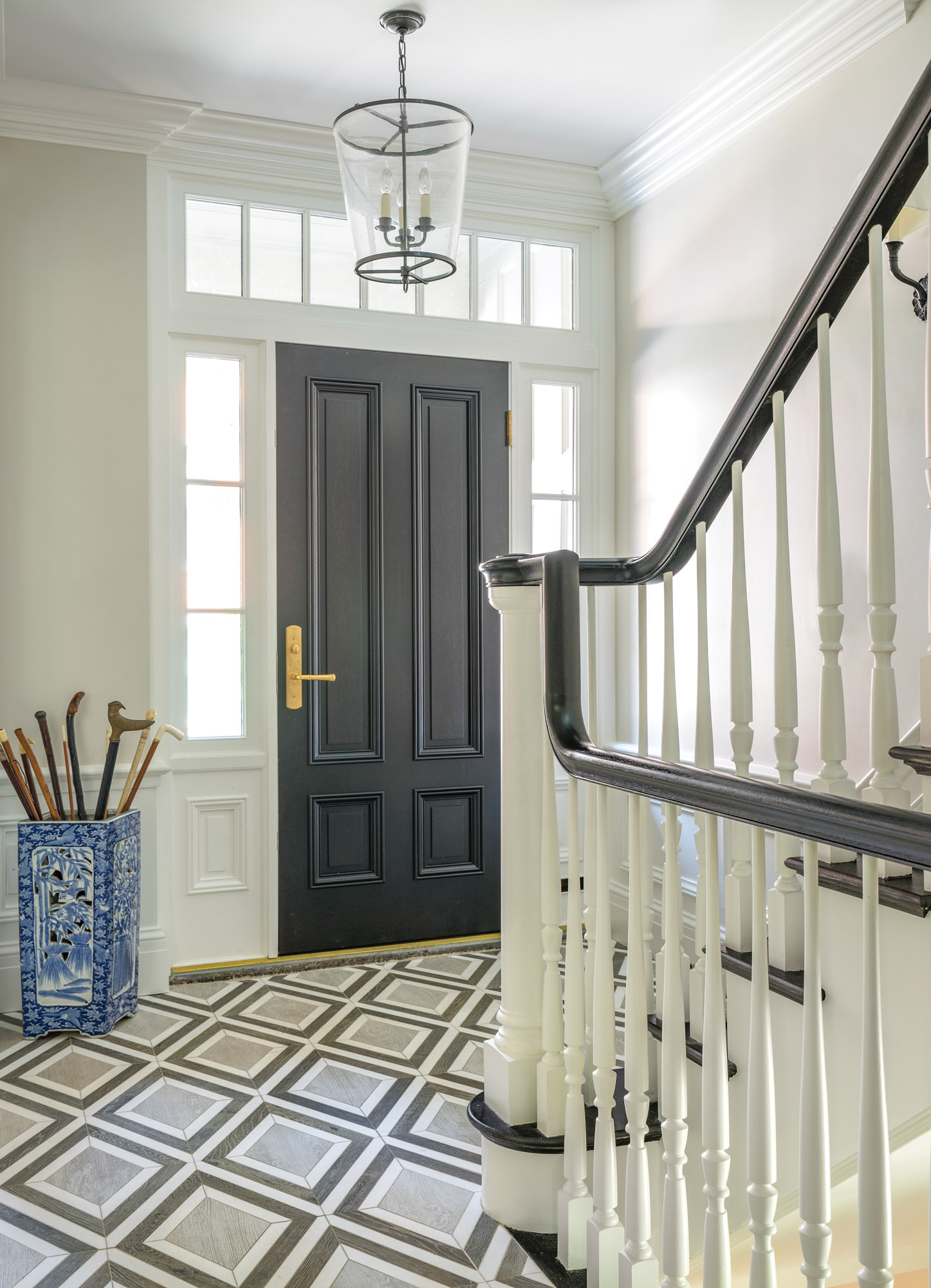 Greek Revival sidelights and transom