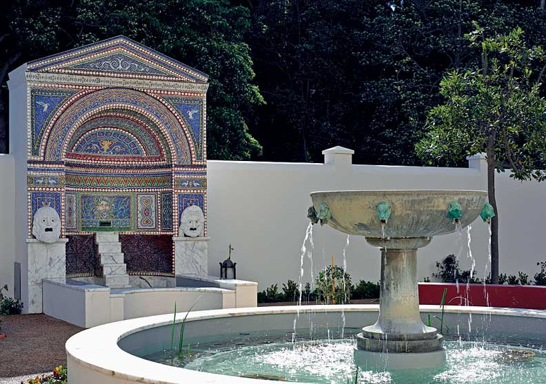 The Getty Villa gardens reflect what a true Roman garden may have looked like.
