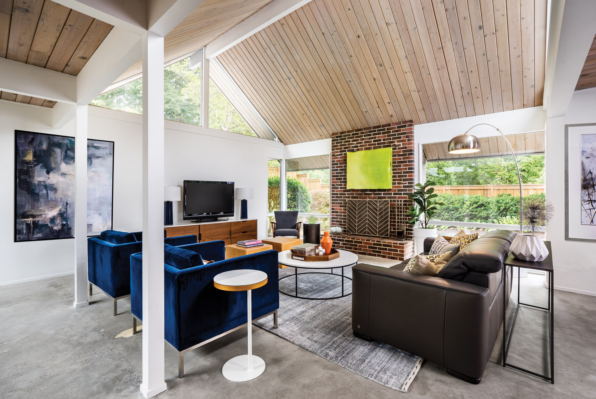 Rummer designed living room