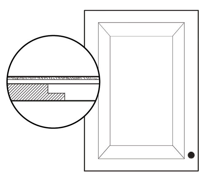 Panel inset on cabinet door