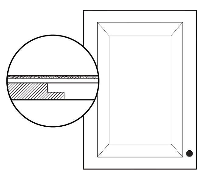 Panel inset on cabinet door