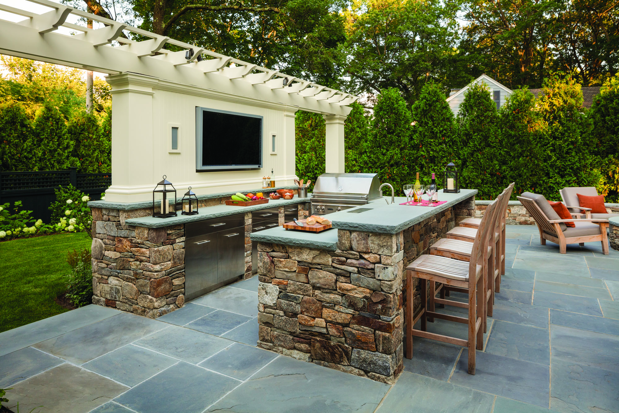 Traditional Outdoor Kitchens - Old House Journal Magazine