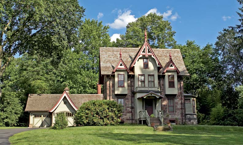 the handsome house was built by victorian era architect daniel t atwood as his - Gothic Revival Farmhouse Plans