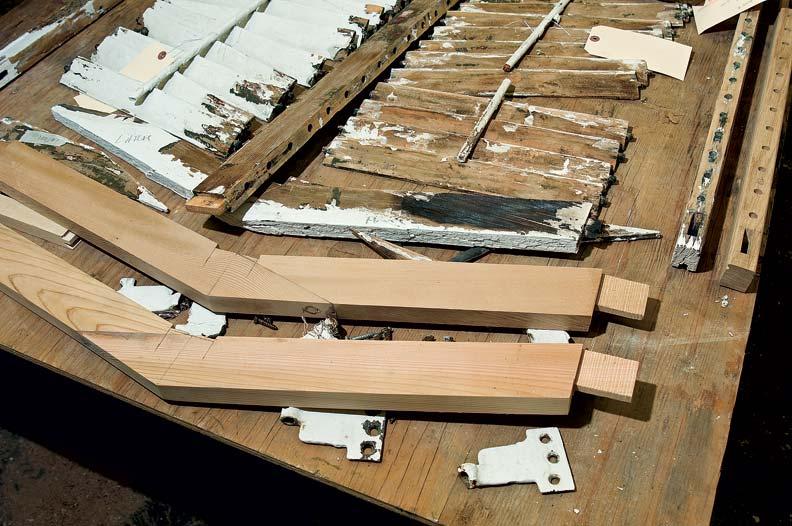 New cedar head rails provide a long-lasting solution.