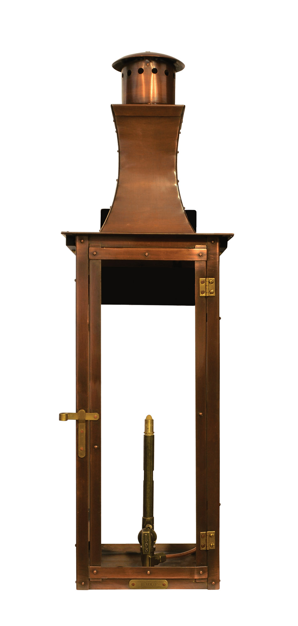 copper Bevolo outdoor lantern