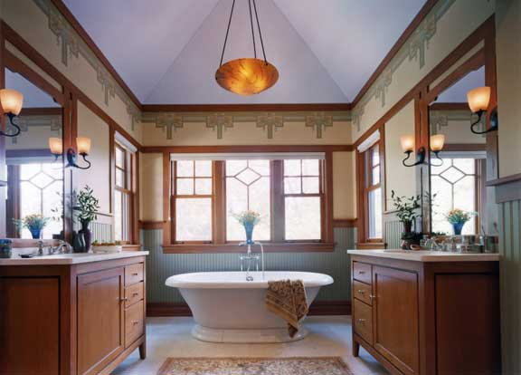 Unique baths for old houses restoration design for the - Arts and crafts style bathroom design ...