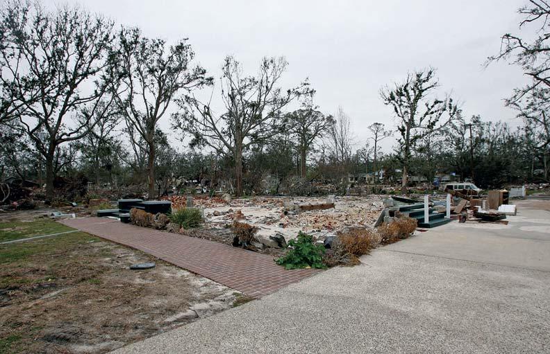 After Katrina, Grass Lawn was little more than a footprint along the oceanfront.