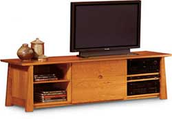 "The Neehi 84"" console from Green Design Furniture combines period style with modern elegance."