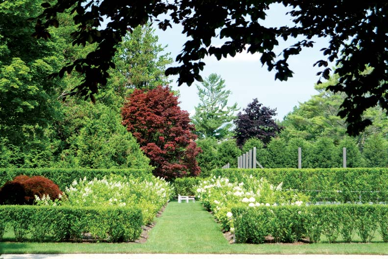 Create balance in your garden with a variety of plantings and shrubs.