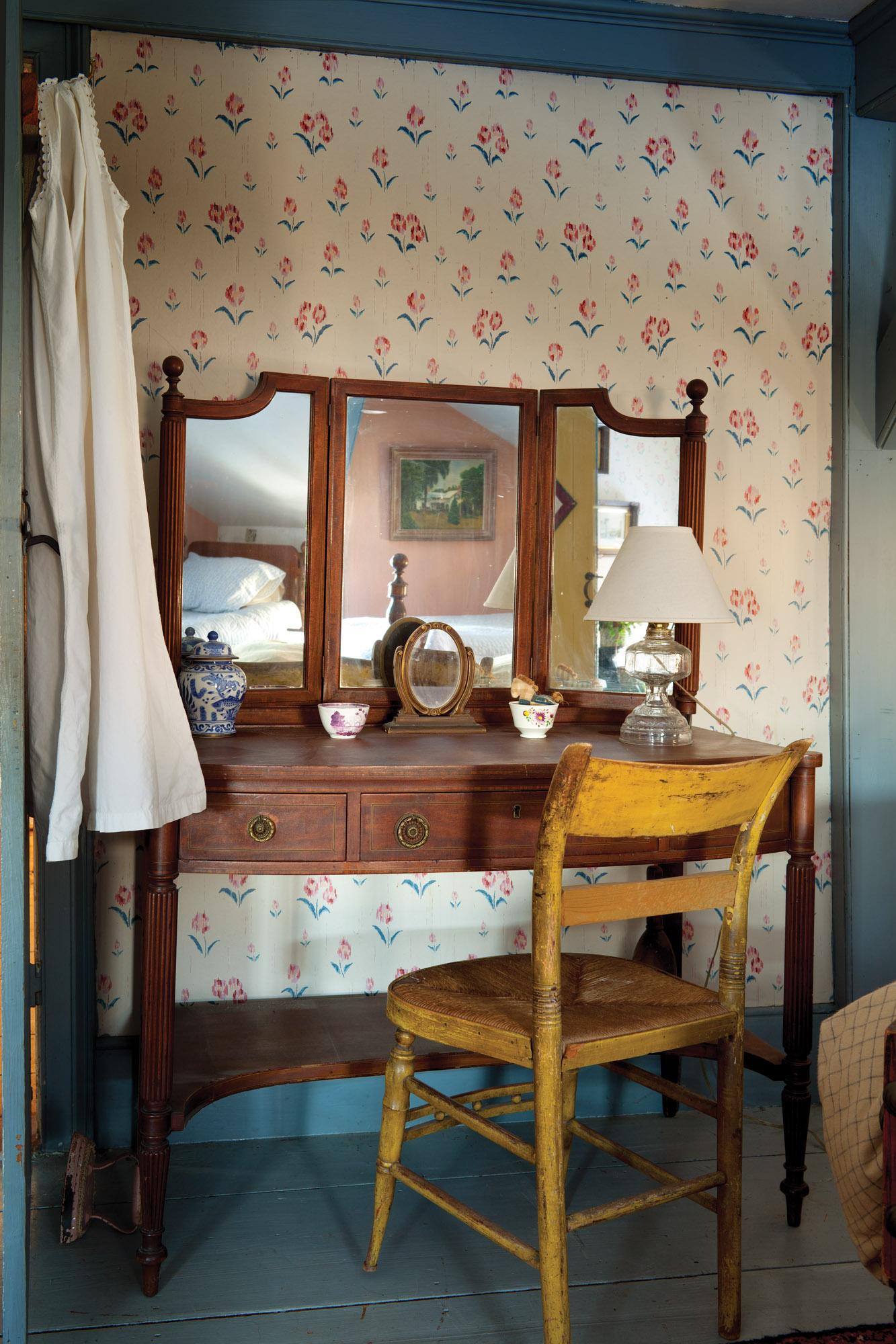 mahogany Sheraton Revival vanity