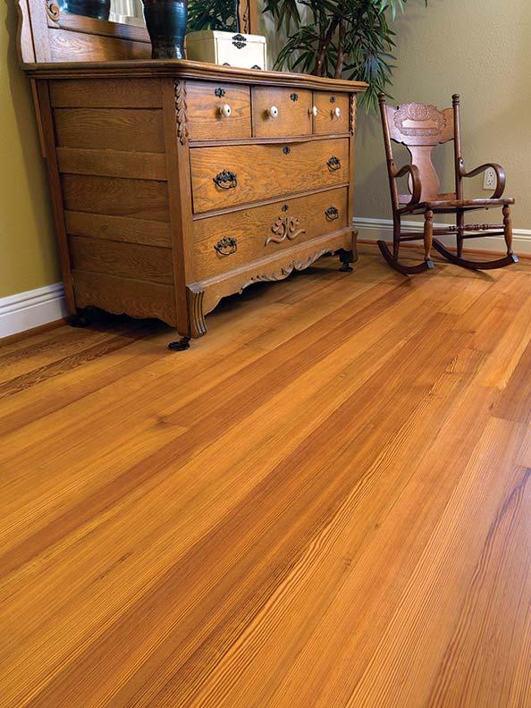 old-growth wood flooring