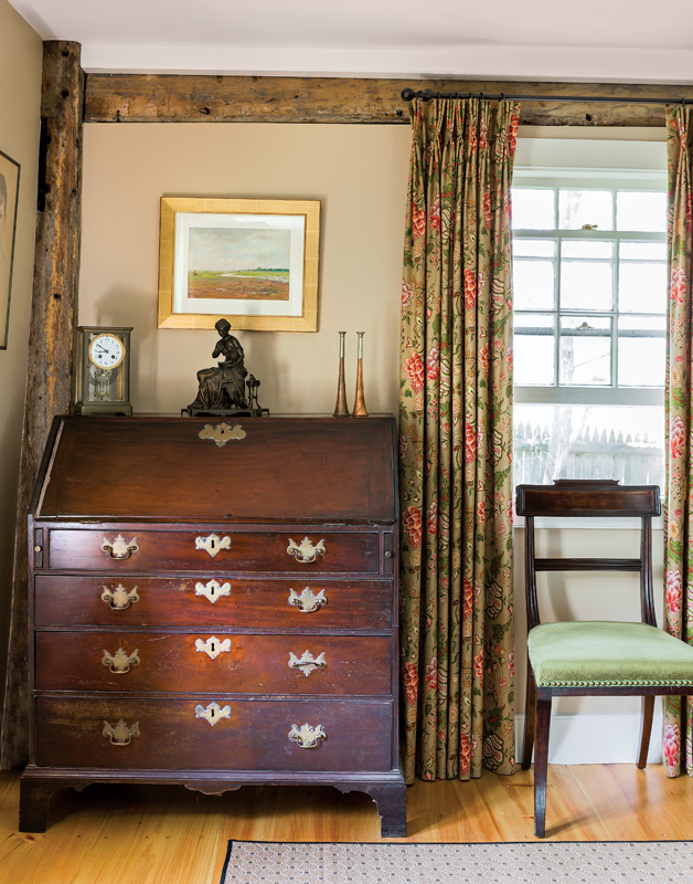 he homeowners have a considerable collection of antique furniture.