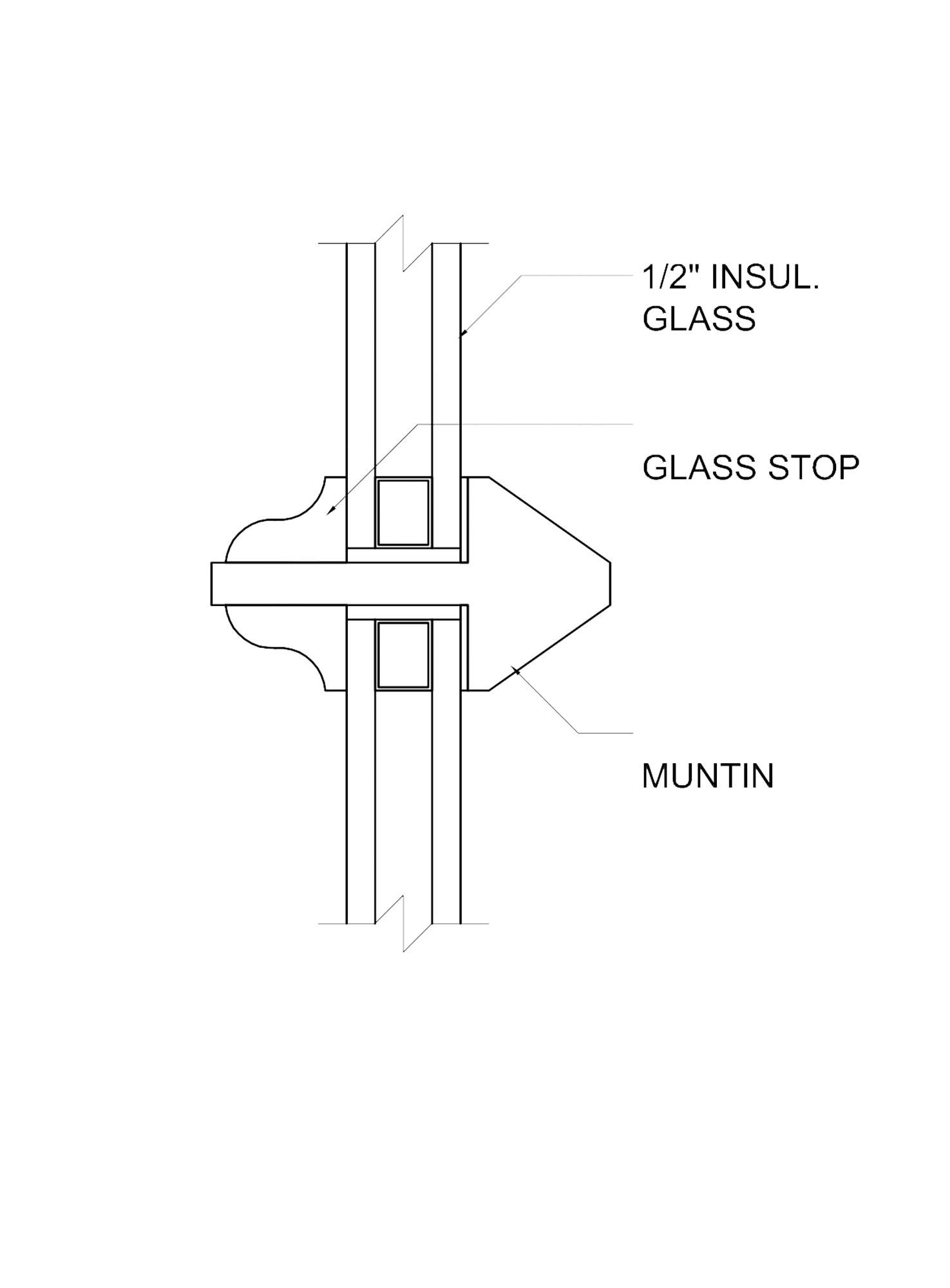 schematic  of a double glazed window from Heartwood Fine Windows & Doors