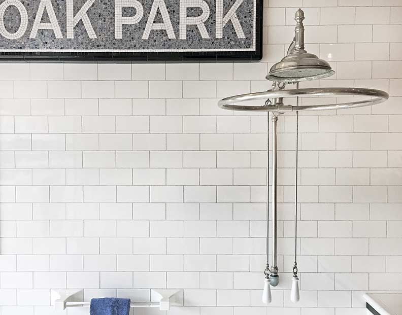 Subway tile was popular in kitchens and baths in the early part of the 19th century.