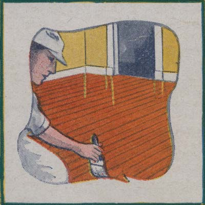 High-gloss varnish was the finish of choice for the golden age of wood floors. It was marketed in a variety of stain and varnish mixes by the 1910s. (Photo: National Archives Associates)