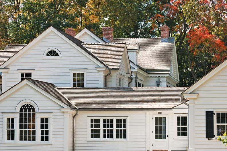 Zimmerman and builder Tim Hine worked with Norwood to create the windows for this Colonial house in Connecticut.