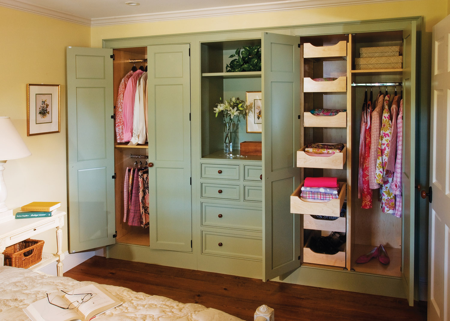 built-in closet, Crown Point Cabinetry closet