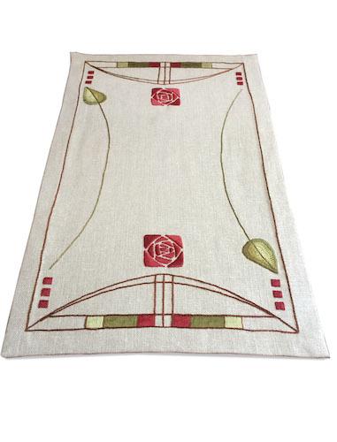 'Roycroft Rose Table Scarf', Natalie Richards