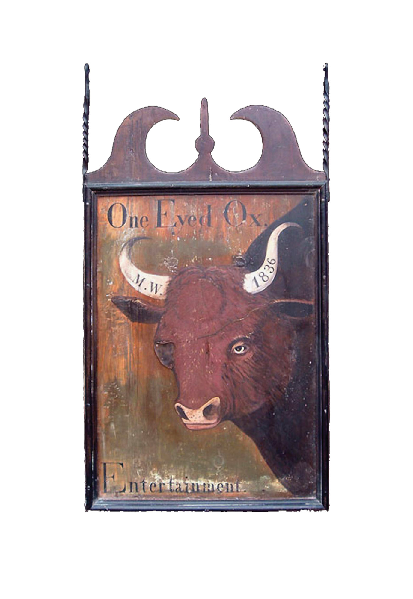 """One Eyed Ox"" sign"