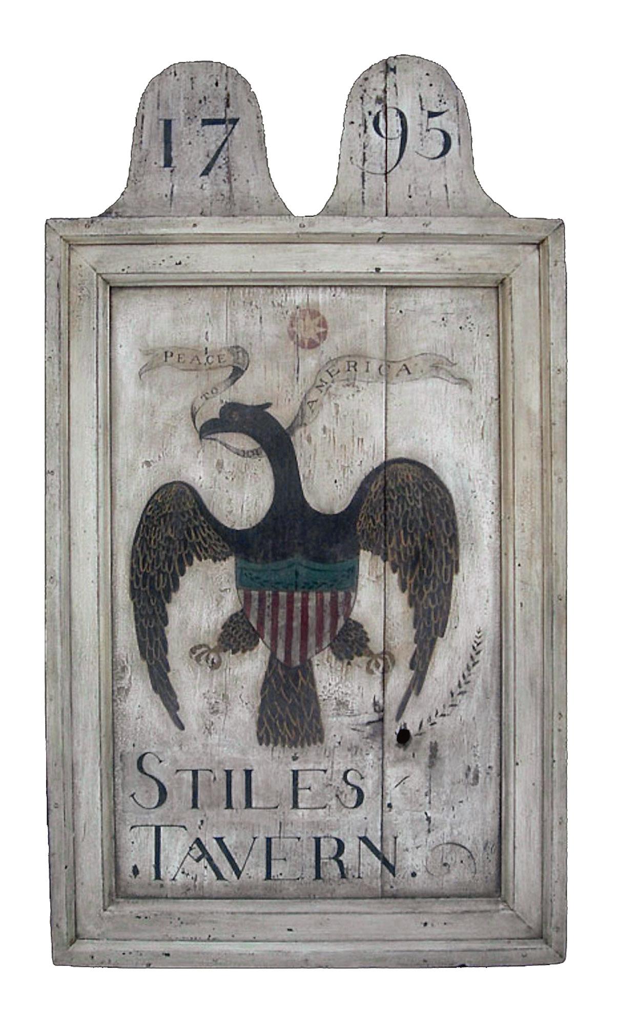 """Stiles Tavern"" sign"