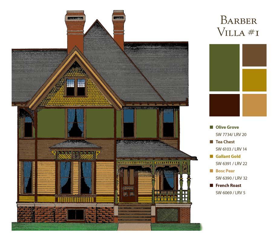 Paint colors for a Barber villa