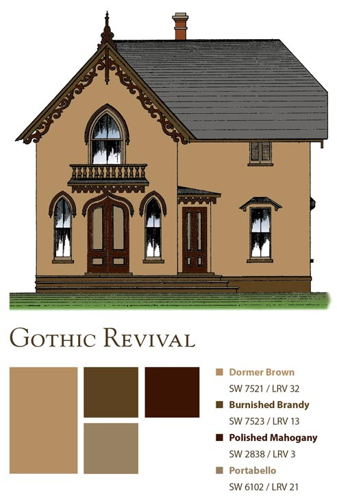 Paint colors for a Gothic cottage