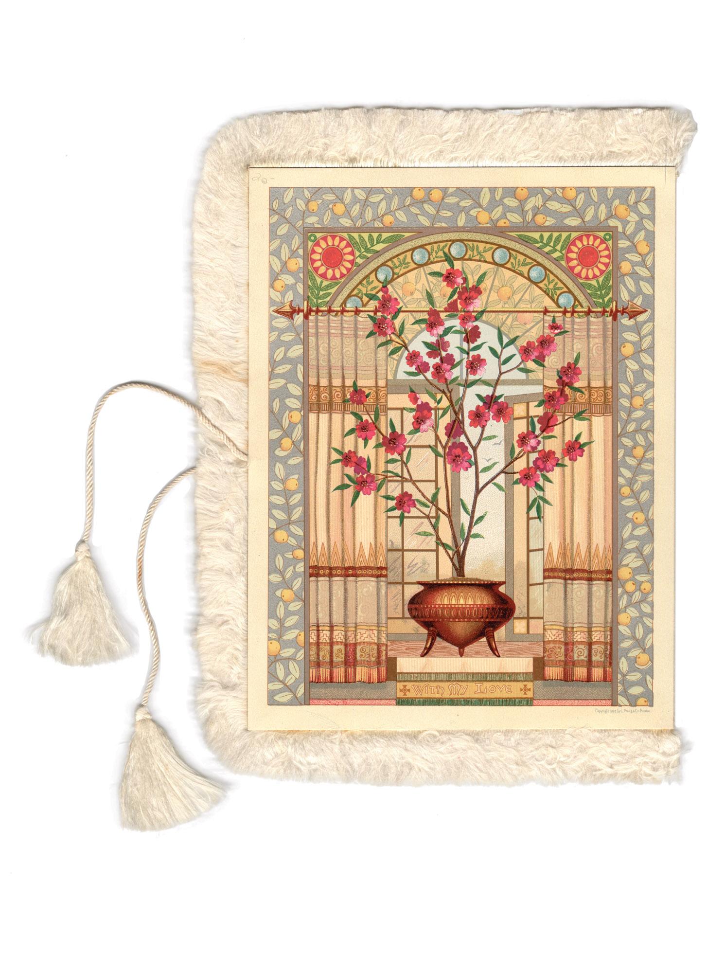 antique tasseled greeting card