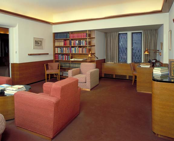 In a very different way, so is the boys' Art Deco sitting room of the 1930s.
