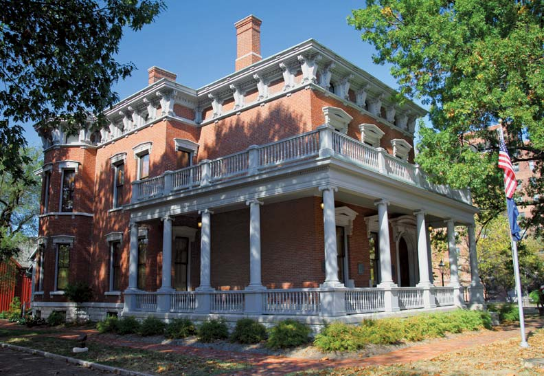 What American city wouldn't be proud of its own presidential home site? Benjamin Harrison, our 23rd Chief Executive, built this Italianate mansion in 1875 and added the neoclassical wraparound porch in 1896 after he left the White House.