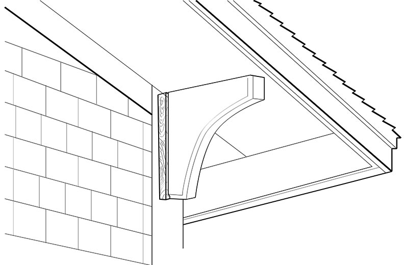 Install a roof bracket with a brace