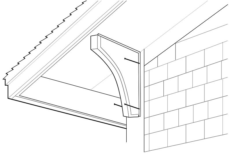 Install a roof bracket with screws