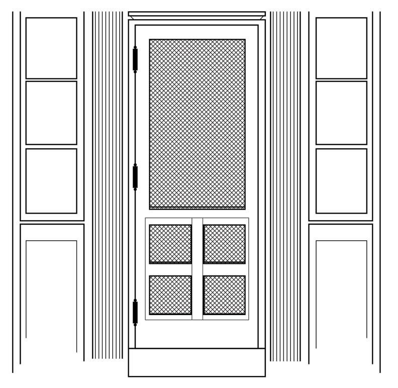 Install a new screen door