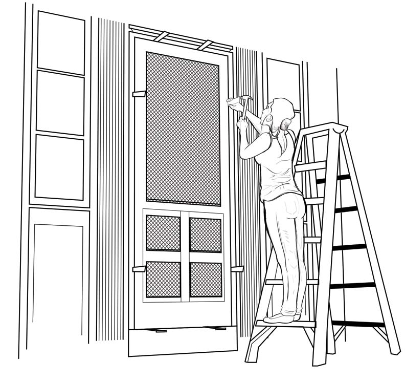 install-screen-door-shim
