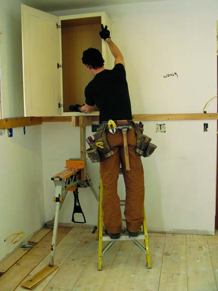 How To Install Upper Kitchen Cabinets With Ledger Board