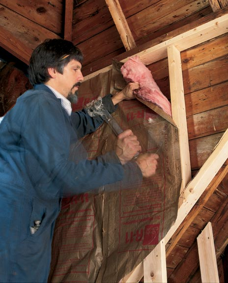"""Repairing interior walls or replacing exterior siding presents rare opportunities to make improvements in an old house """"weather envelope."""" Be sure to carefully consider the building's composition before you add insulation."""