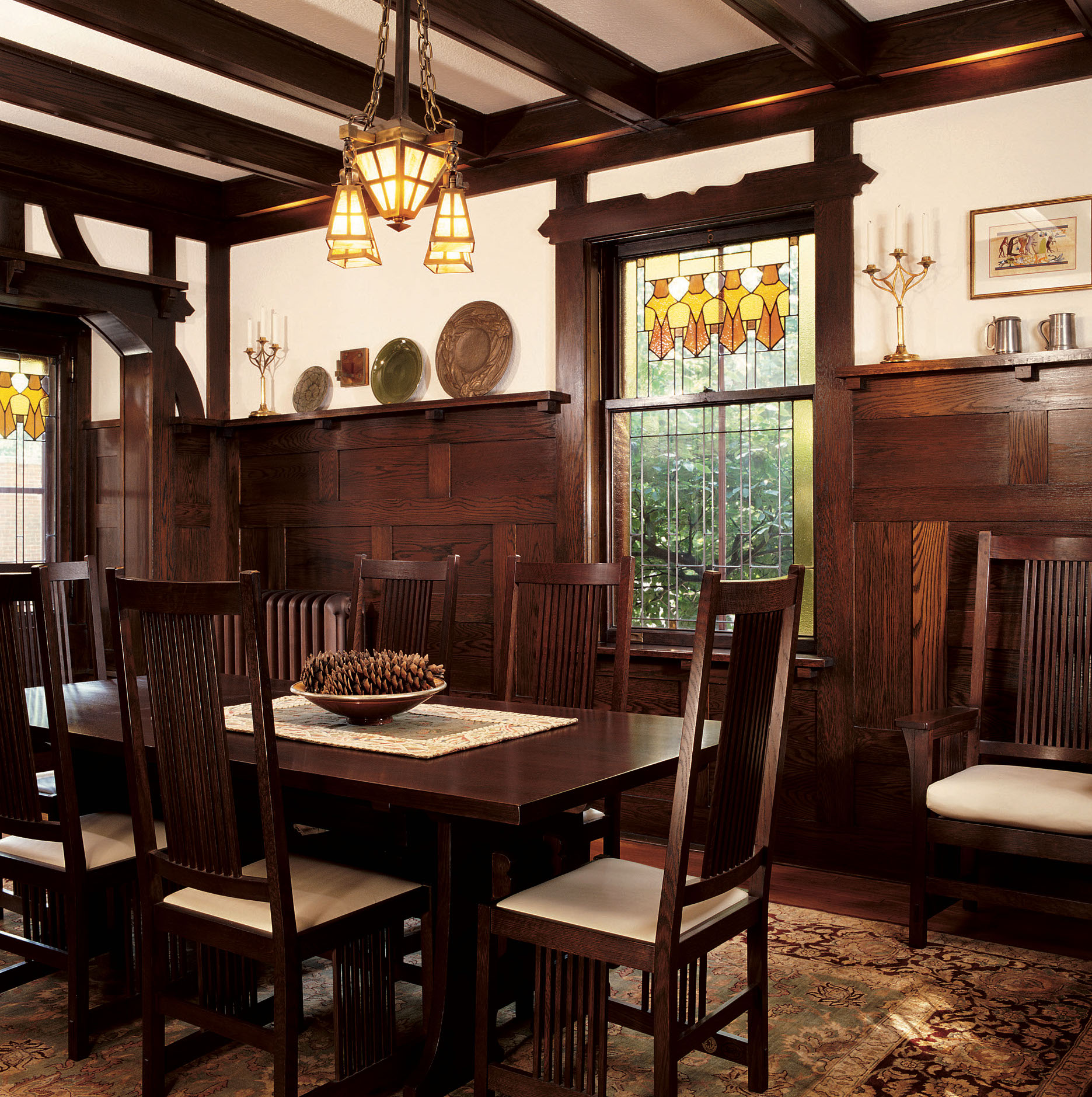 The Craftsman and Tudor Revival styles share old-world precedents.