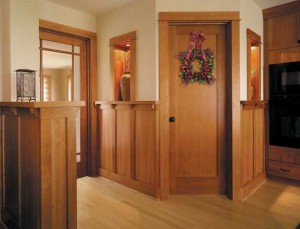 It's now possible to match new doors to existing woodwork. This passage door is from Jeld-Wen's Premium Wood line.
