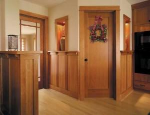 It's now possible to match new doors to existing woodwork. This passage door is from Jeld-Wen's Premium Wood line.