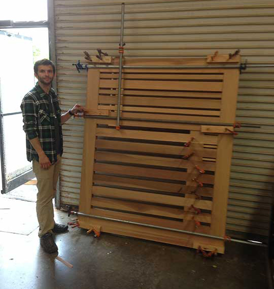 "Joinery is crucial to the success of this 60""-wide gate."