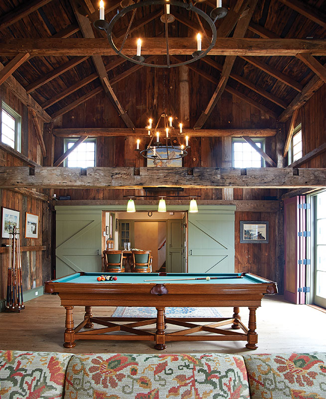The barn was designed to serve as a social gathering and entertaining space. (Photo credit: Jeff McNamara)