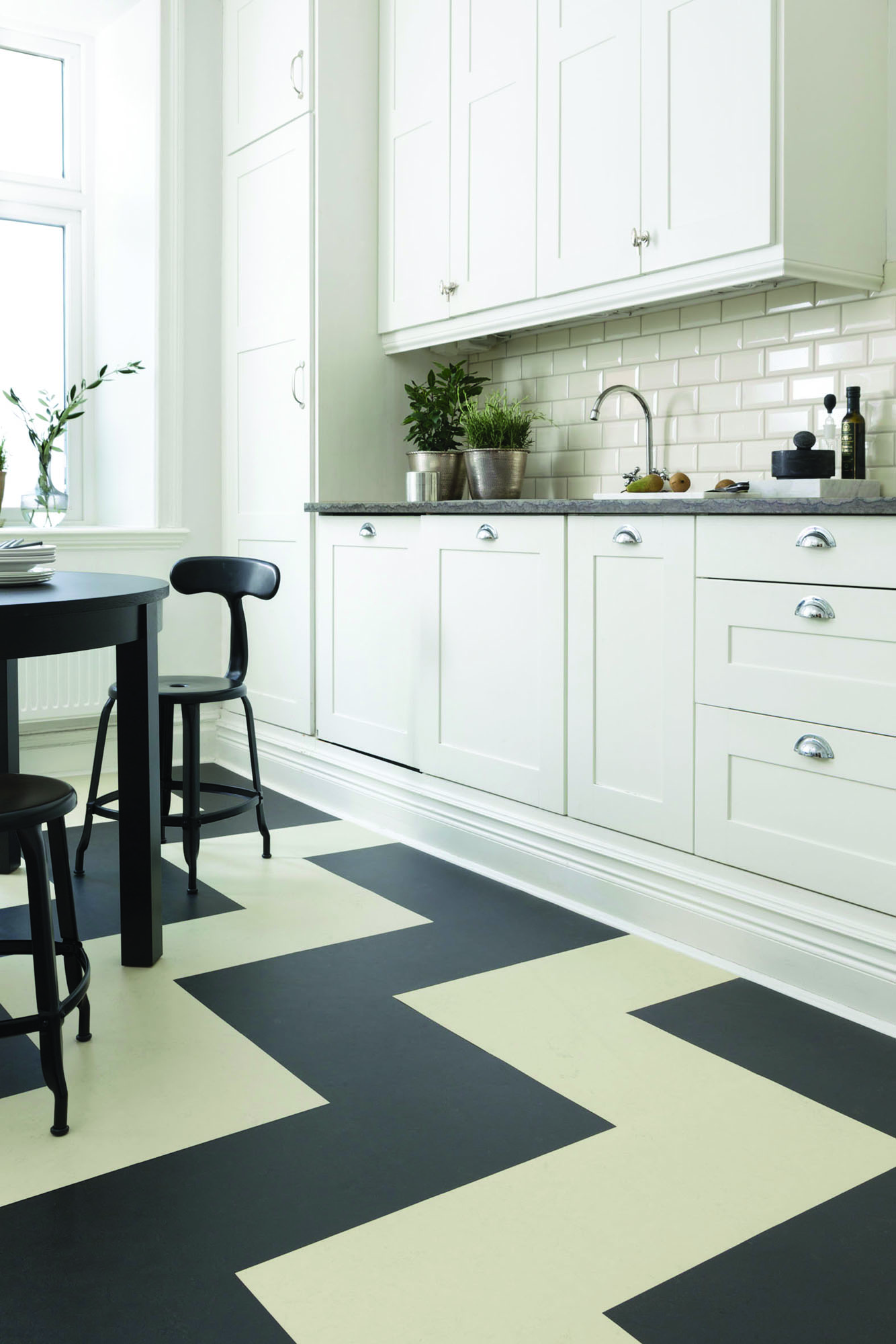 "Marmoleum Click 12"" x 36"" planks and 12"" square CinchLOC tiles"