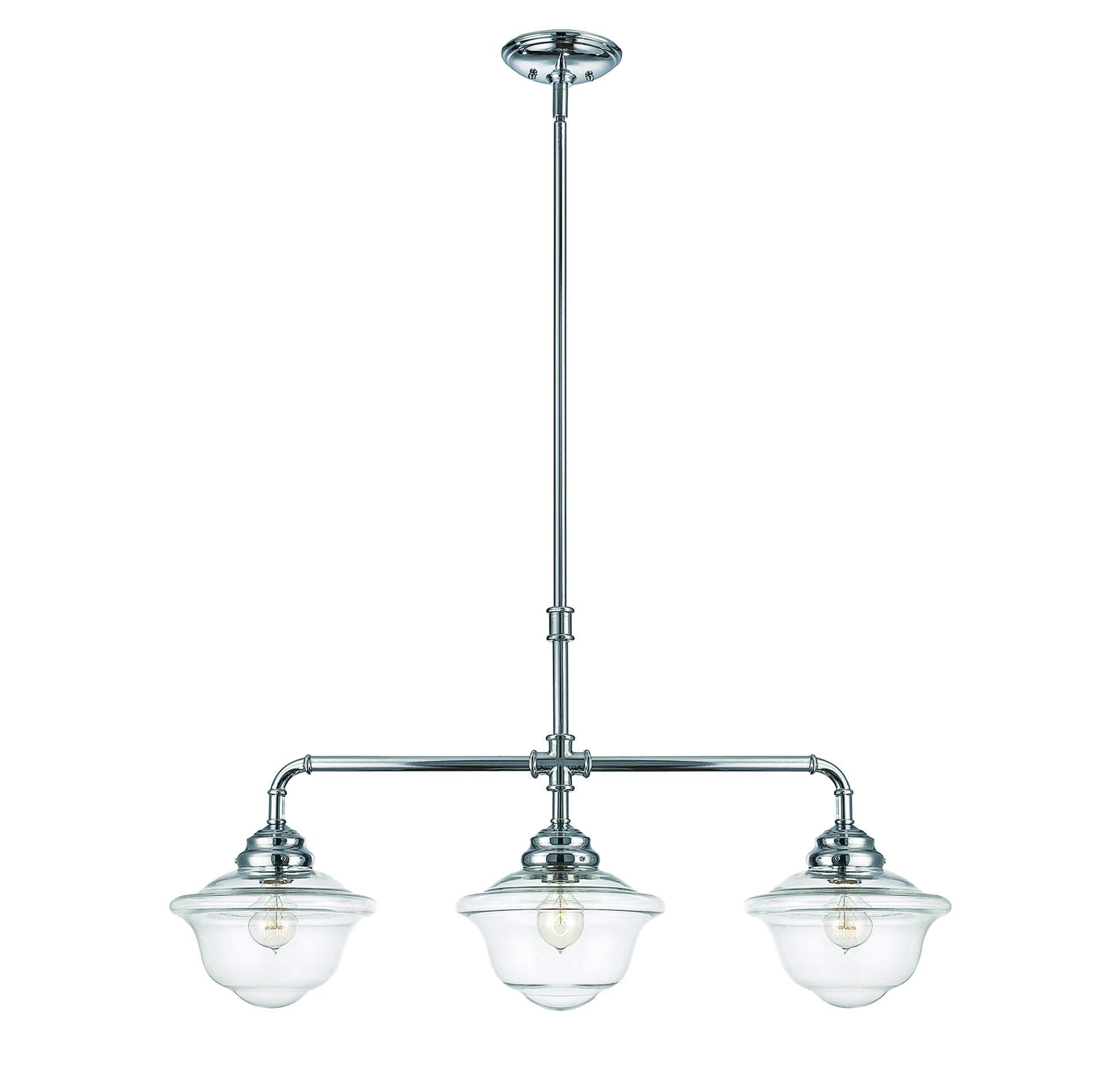 Fairfield three-light trestle pendant