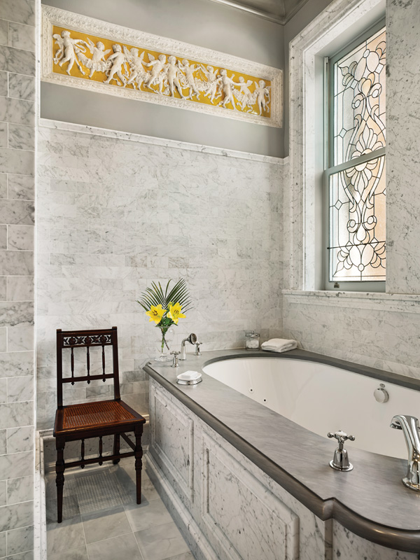 renovated victorian mansion master bath