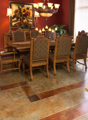 Kemiko products were used to stain this custom interior floor.