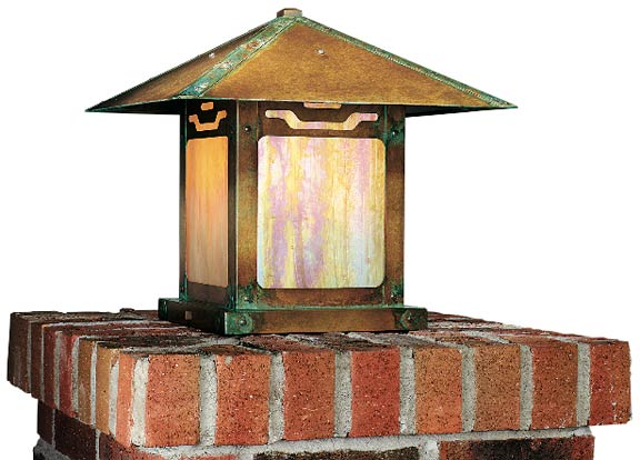 Kensington Place metal post mount by Old California Lantern Co.