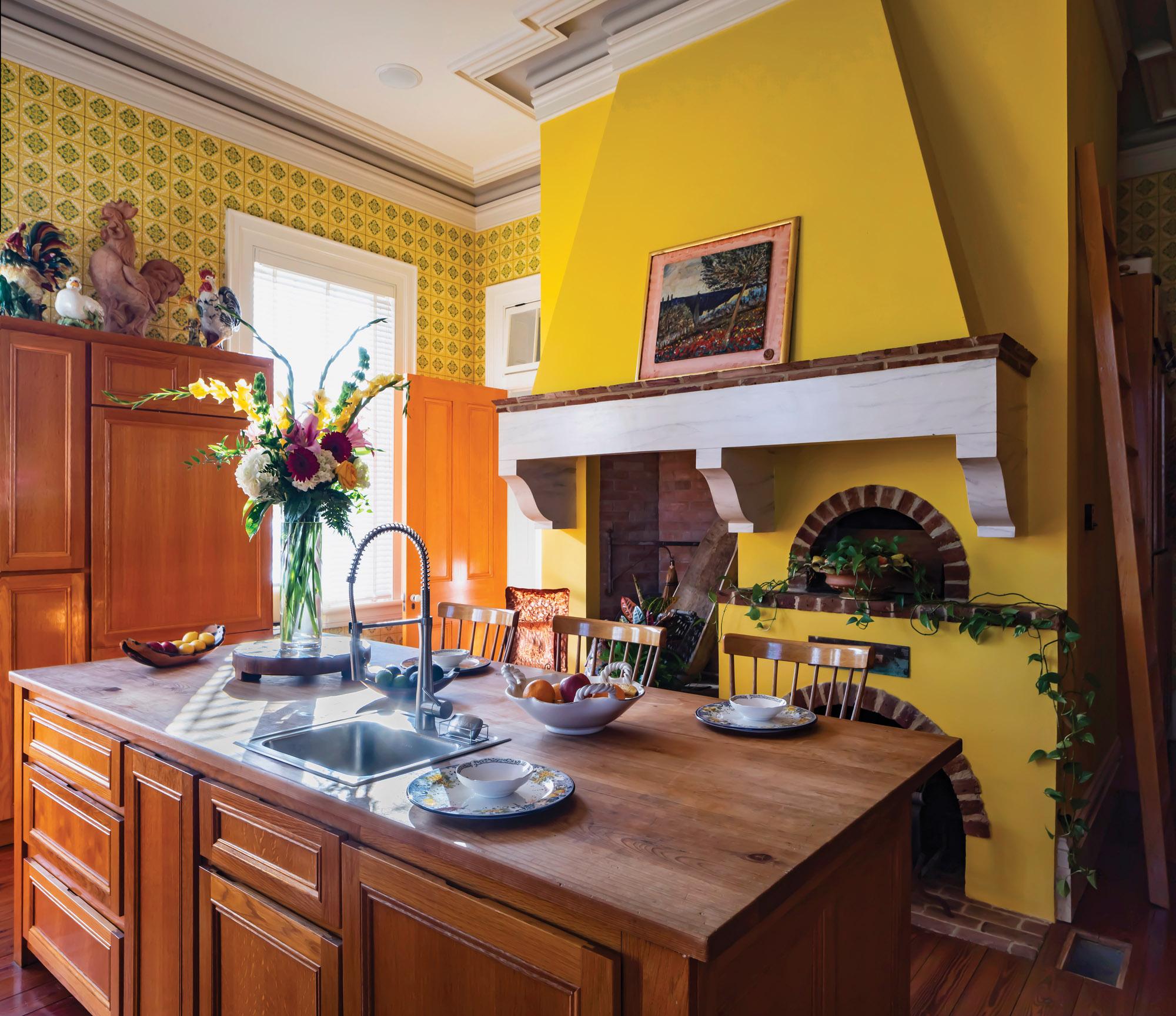 Rosedale kitchen, yellow kitchen