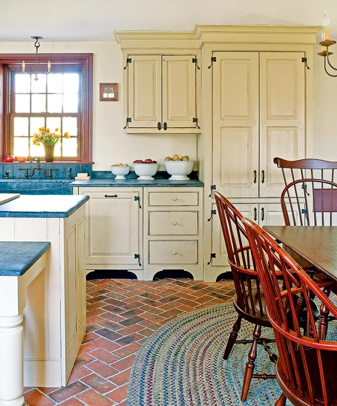 The best flooring choices for old house kitchens old house brick dailygadgetfo Image collections