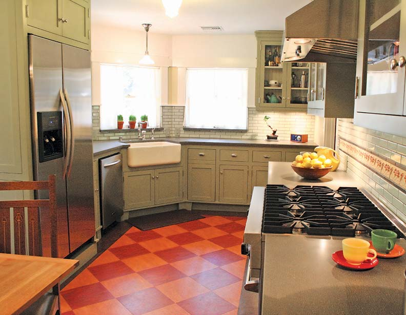 The Checkerboard Linoleum Floor Is A Kitchen Clic