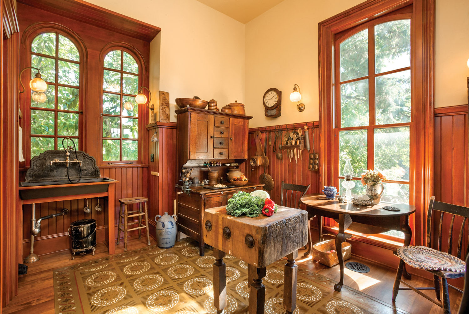 restored Victorian kitchen